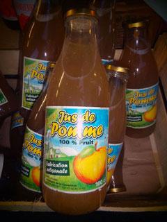 Notre jus de pomme artisanal (100% fruit) - Les vergers de la Caunelaye